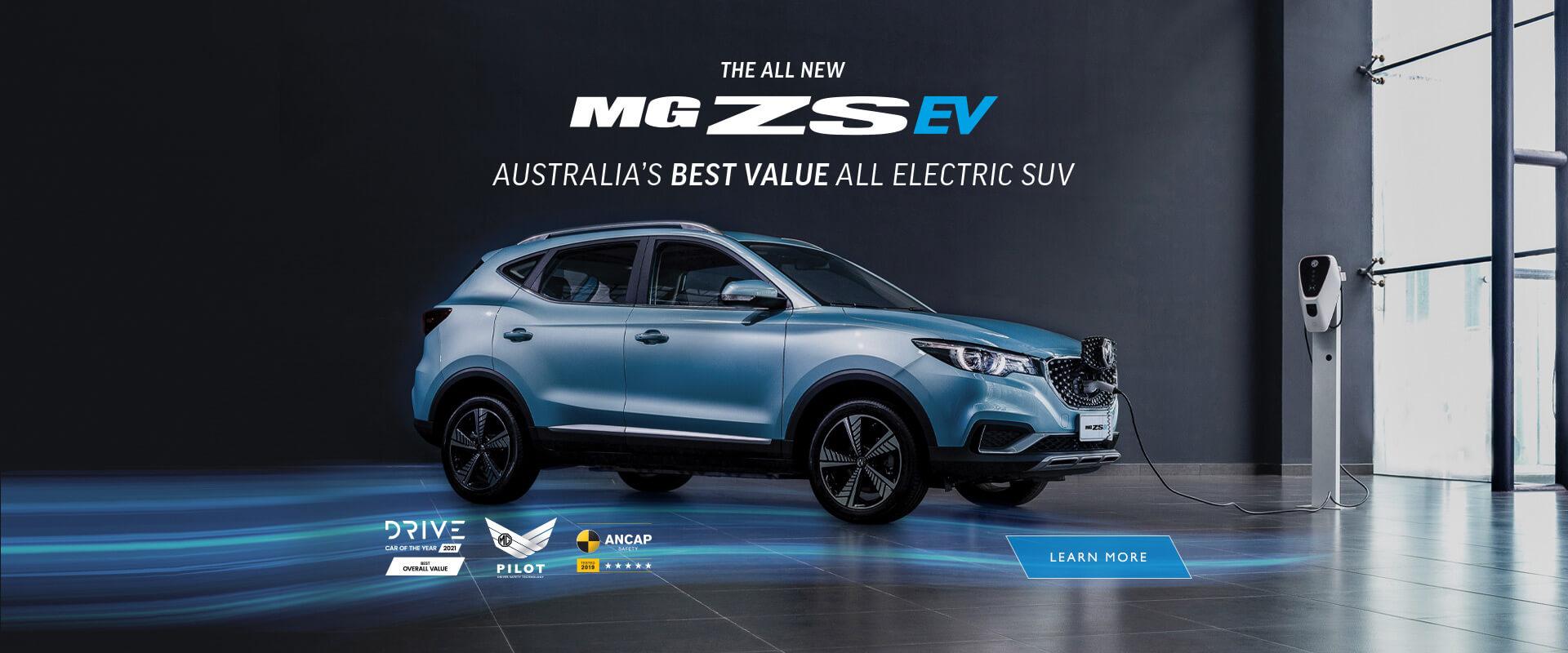 MG ZS EV. Australia's best value all electric SUV.