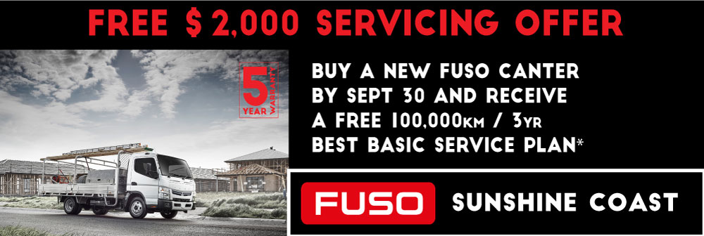 COMPLIMENTARY SERVICE PLAN WITH NEW FUSO CANTERS