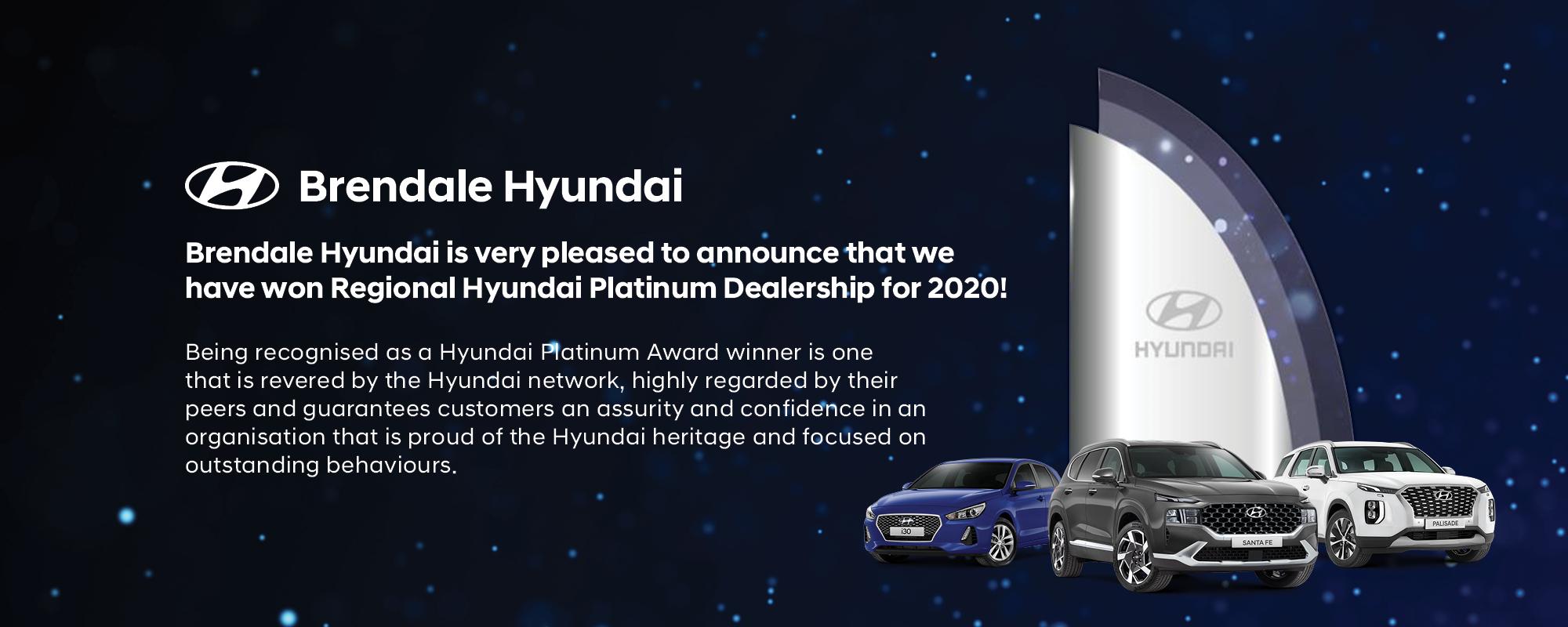 Brendale Hyundai Platinum Award