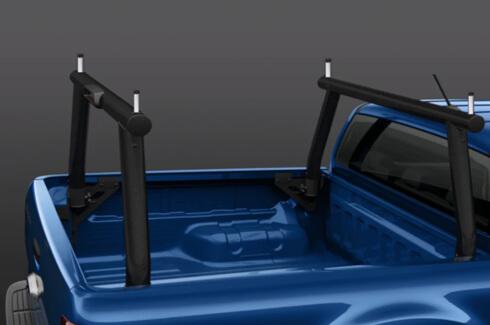 "<img src=""Ladder Rack Kit Twin Bar Types - Black"