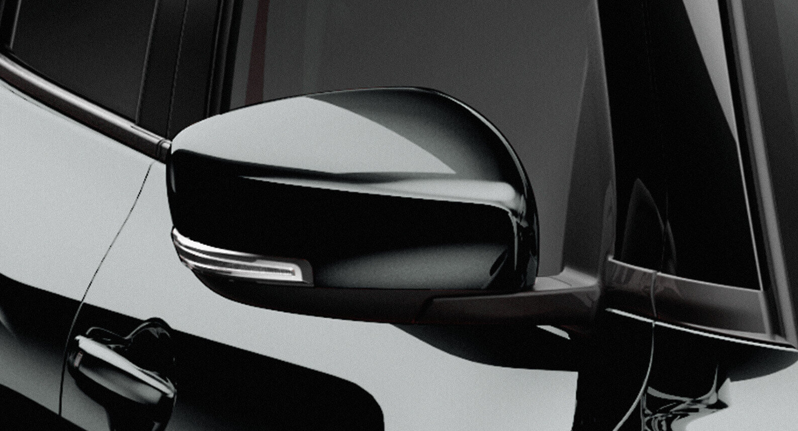 Side Mirrors Set Black - Swift GLX/Swift Sport