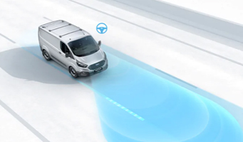 Transit Custom Lane Keep Assist with Lane Departure Warning