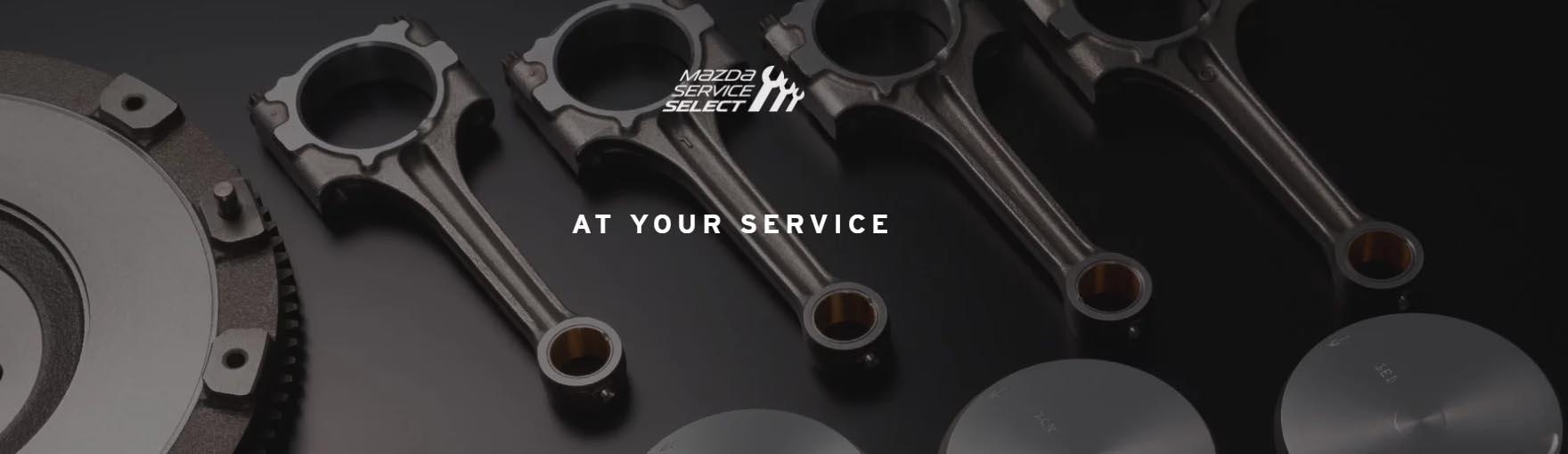 Close up of Mazda genuine parts