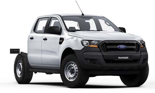 2018 Ford Ranger PX MkII 4x4 XL PLUS Double Cab Chassis 3.2L Cab chassis
