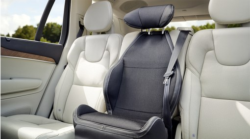 Child seat, padded upholstery
