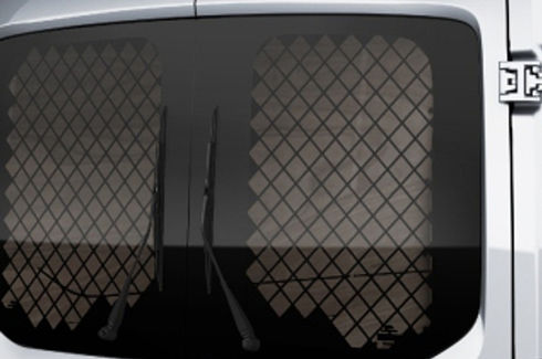 Rear window grilles