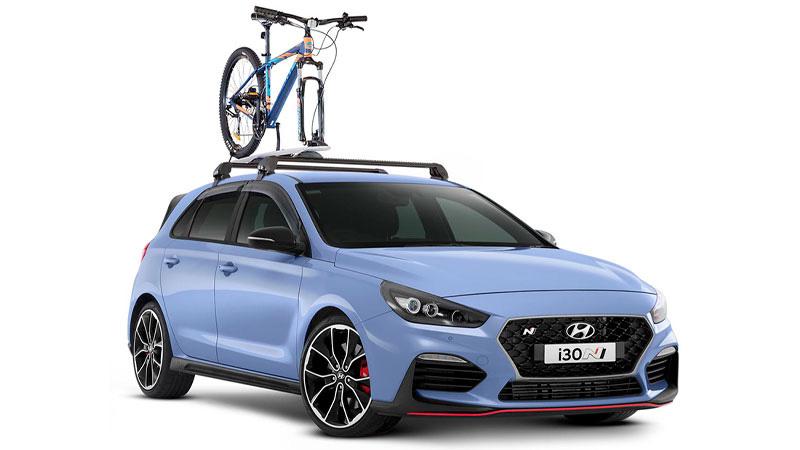 Bike Carrier - wheel off.