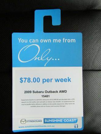 2009 Subaru Outback B4A MY09 Premium Pack AWD Suv image 24