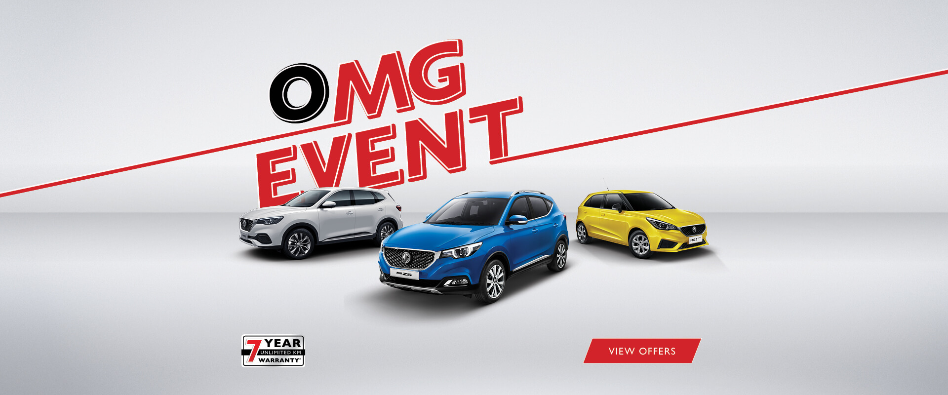 The MG OMG Event is on now. View Offers.