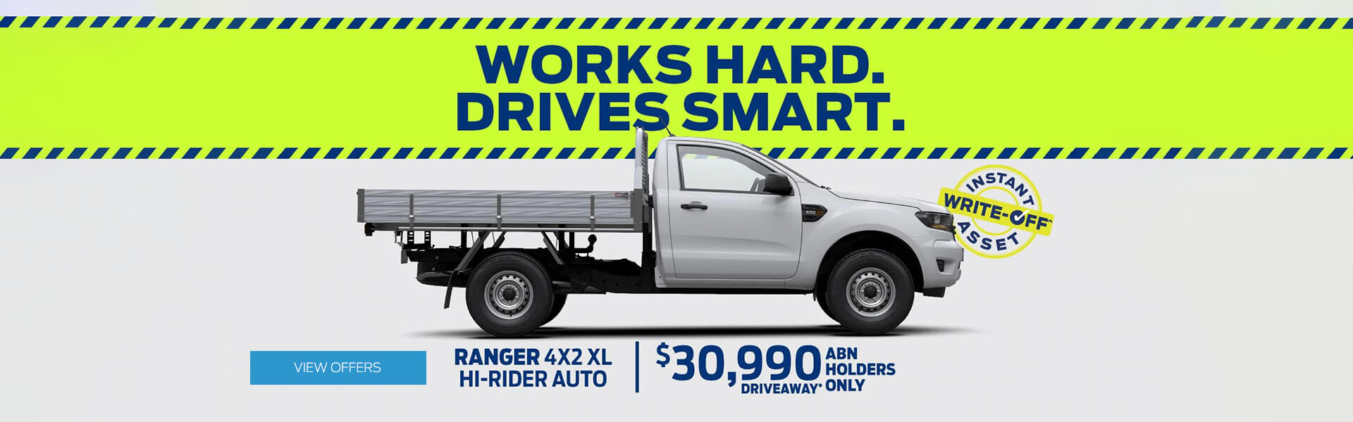 Works Hard. Drives Smart. Ranger 4x2 XL Hi-Rider Auto