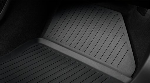 Shaped plastic passenger compartment mats