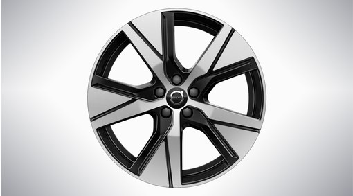 "19"" 5-Spoke Black Diamond Cut"