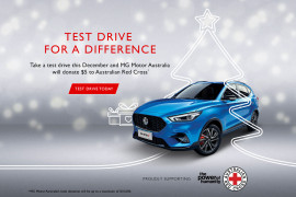TAKE A TEST DRIVE OF THE MG ZST FOR A CAUSE THIS CHRISTMAS