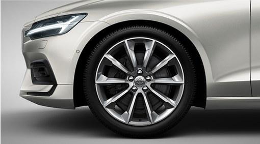 "Complete wheels, 19"" 5-V Spoke Tinted Silver"