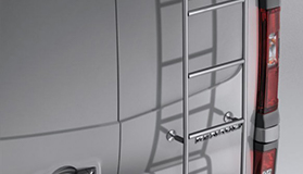 Galvanized steel ladder - swinging doors