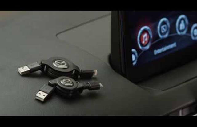 "<img src=""Audio retractable lightning cable"