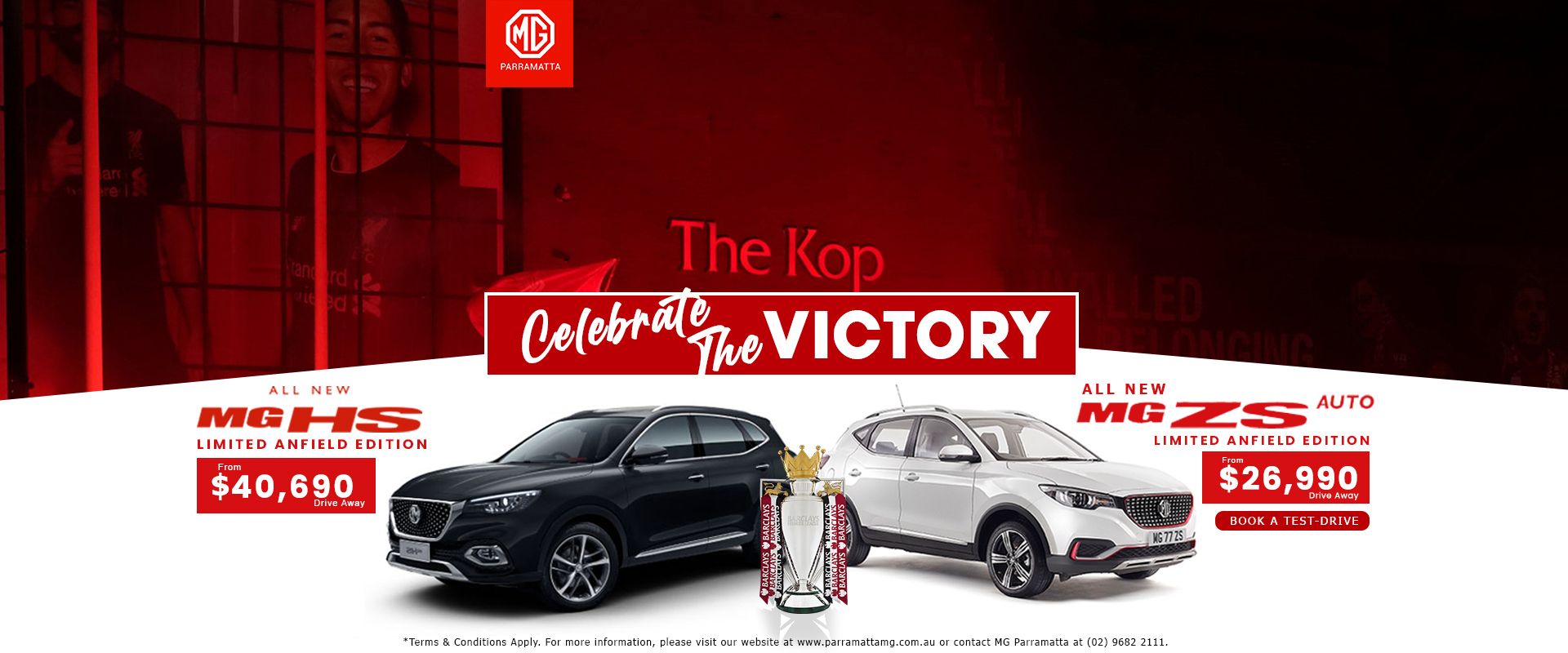 Mg ZS and HS Anfield Liverpool Edition