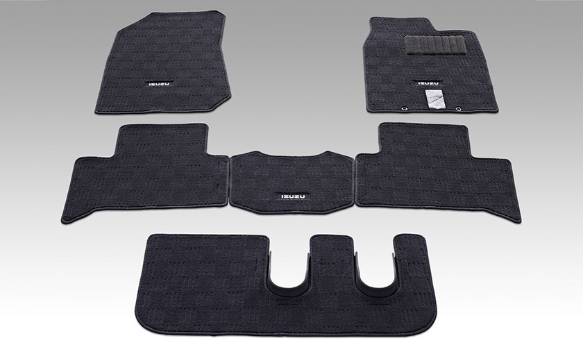 "<img src=""Carpet Floor Mats (shown with optional foot guard)"