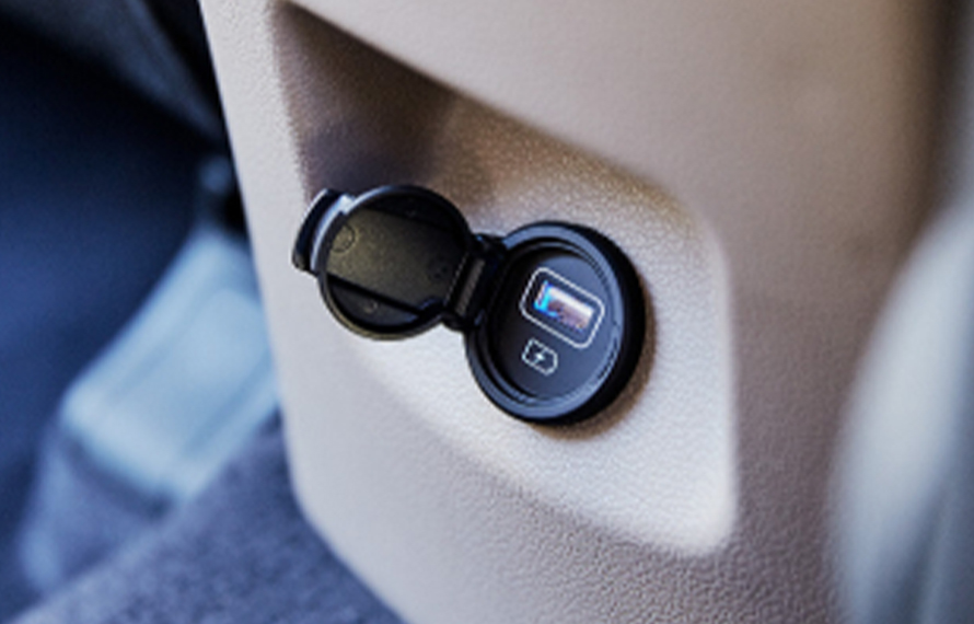 Tucson Rear passenger USB port.