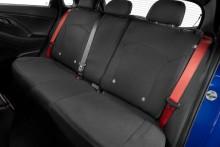 Neoprene rear seat covers.