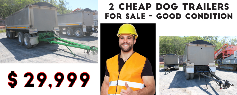 2 CHEAP DOG TRAILERS FOR SALE
