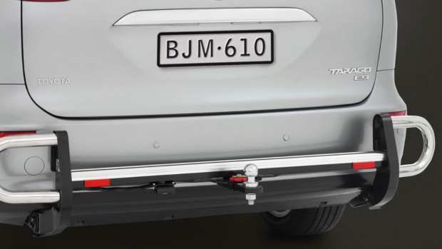 Towbar with Rear Step & Side Protector