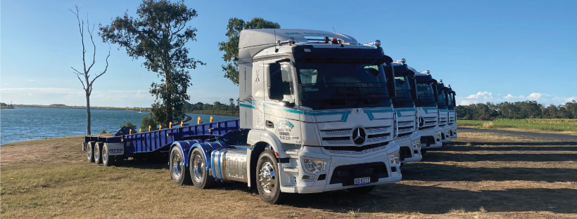 DE GUNST TAKE DELIVERY OF 5 OF THEIR 9 NEW MB 2643 ACTROS