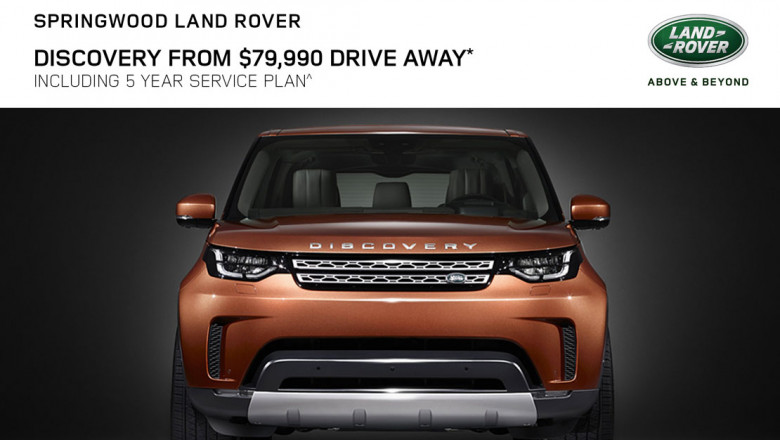 Discovery from $79,990 Drive Away* Including 5 Year Service Plan^