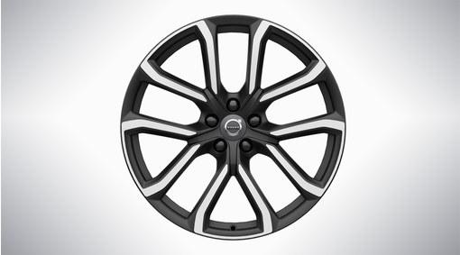 """20"""" 5-Double Spoke Matt Tech Black Diamond Cut Alloy Wheel - 234"""