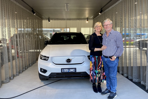 The first-ever XC40 Recharge Pure Electric Delivery in Fortitude Valley
