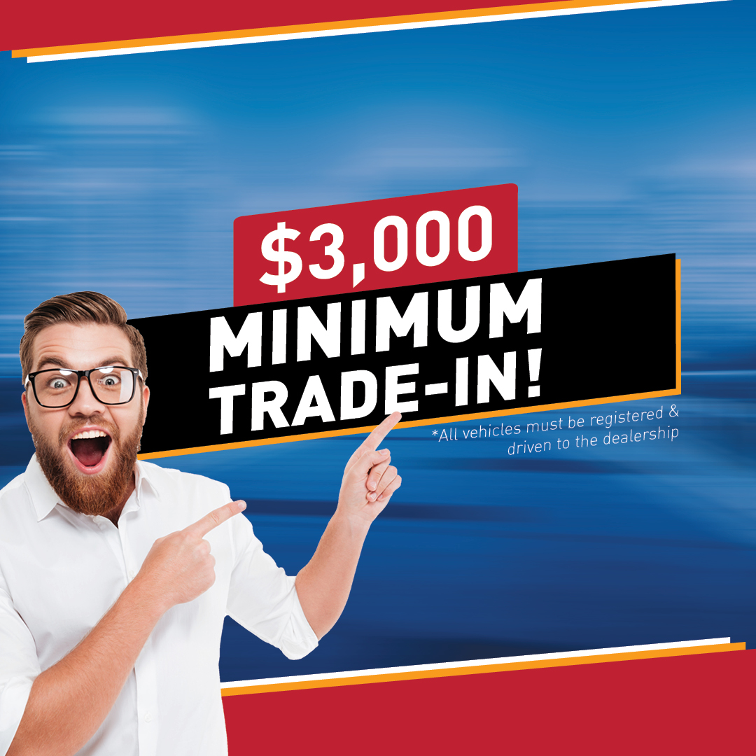 Receive $3,000 MINIMUM on your trade at Springwood Nissan*!