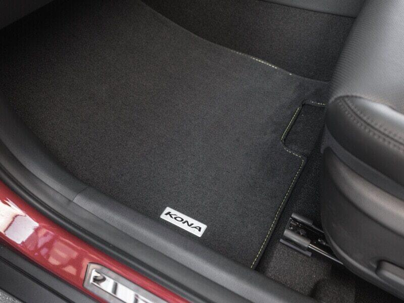 "<img src=""Tailored carpet floor mats (set of 4) - yellow stitching"