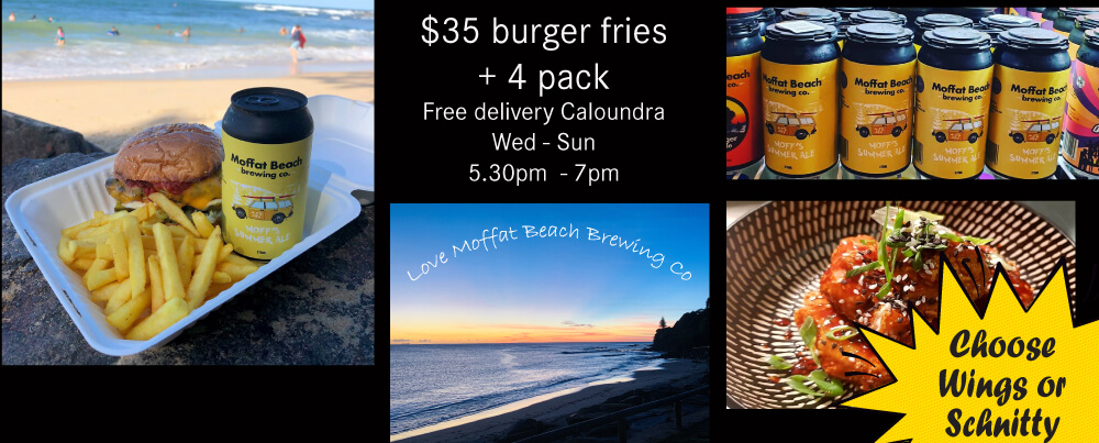 Moffat Beach Brewing Co Beer + Burger delivery