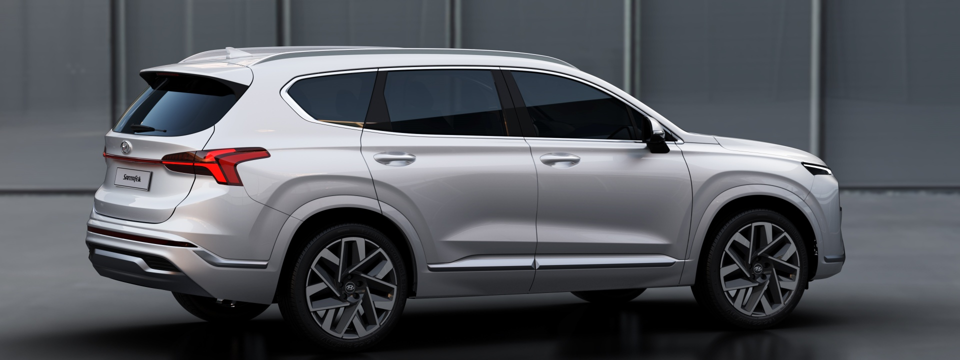 The bold New Santa Fe is on its way. Image