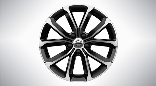 "Complete wheels, winter 17"" 5-V Spoke Black Diamond Cut - 1036"