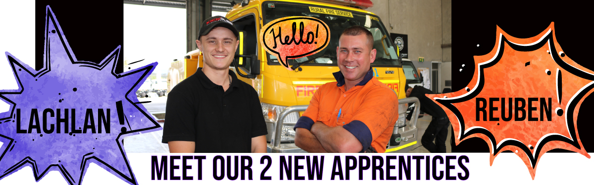 MEET OUR TWO NEW APPRENTICES