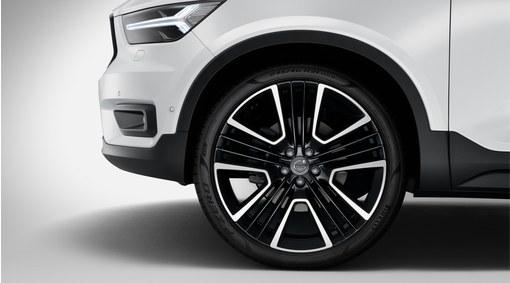 """Complete wheels, 21"""" 5-Triple Open Spoke Black Diamond Cut - C011"""