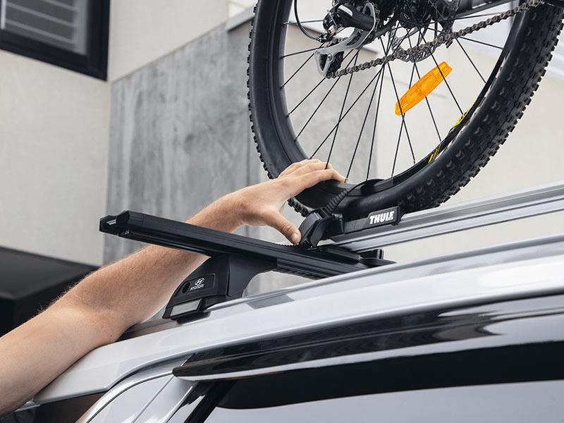 Bike carrier - wheel on or off