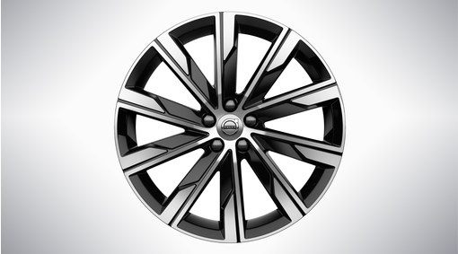 "20"" 10-Spoke Turbine Black Diamond Cut - 800145"