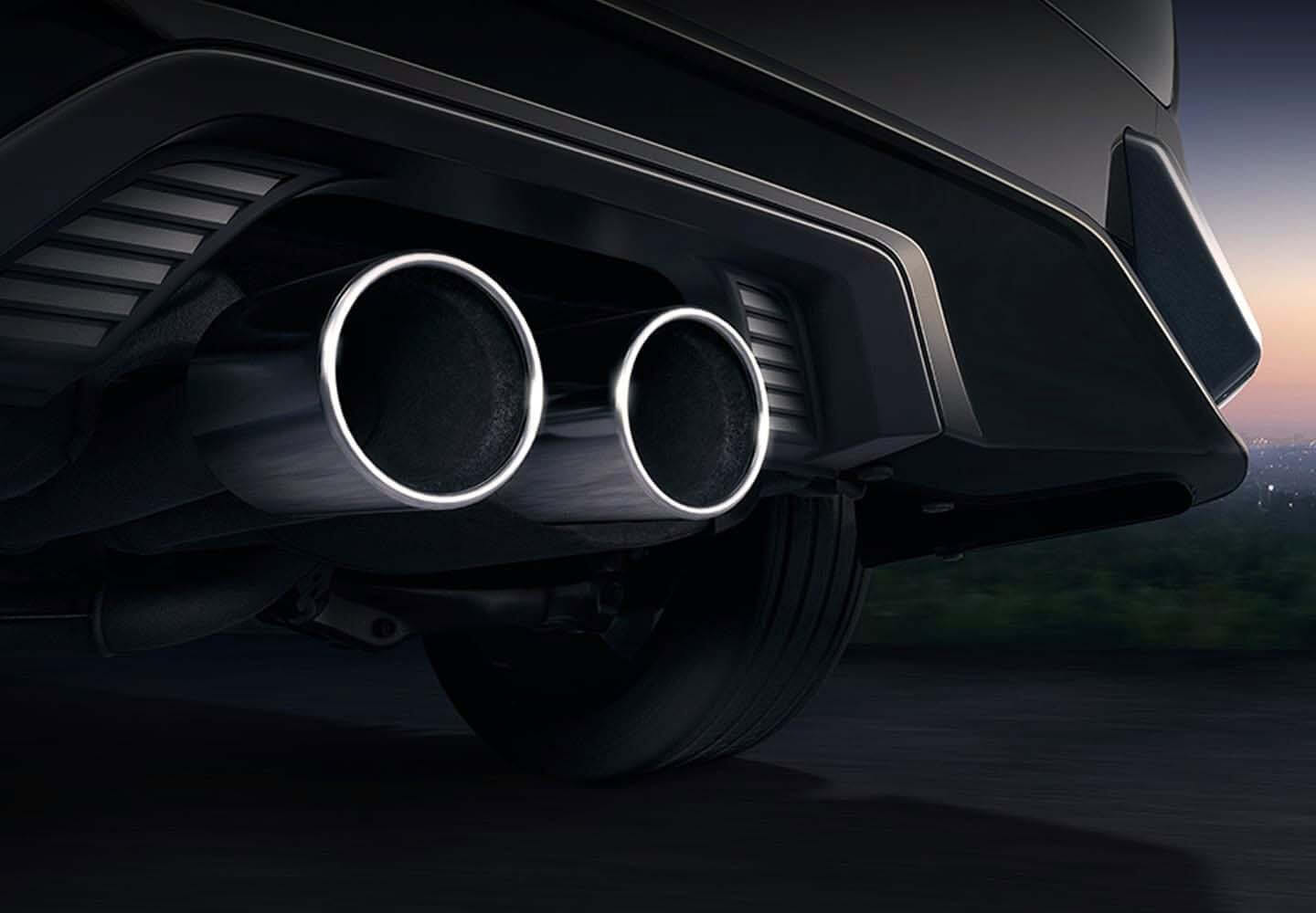 Civic Hatch Central Twin Exhaust