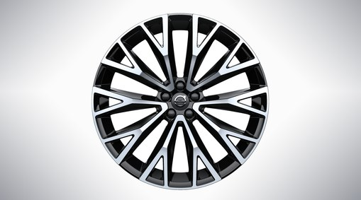 "22"" 10-Open Spoke Black Diamond Cut - 800142"