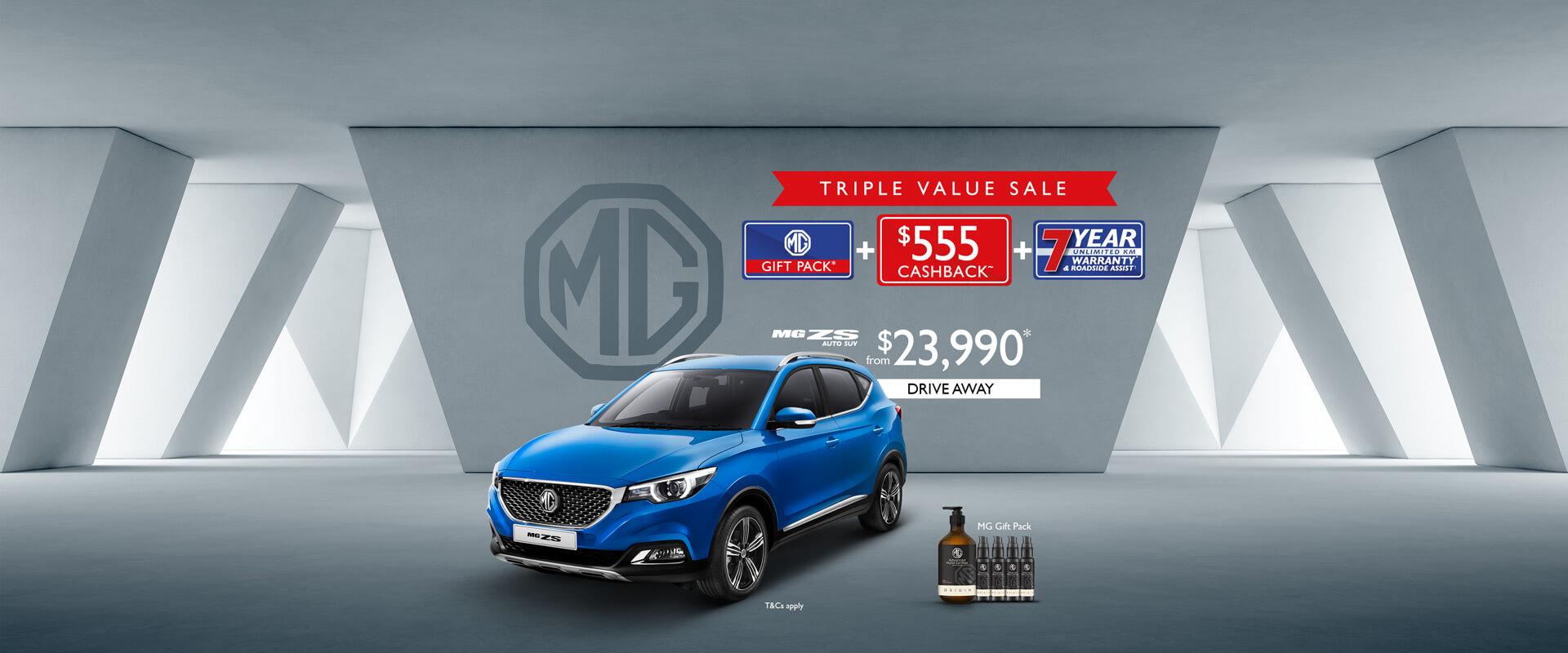 MG ZS Triple Value Sale
