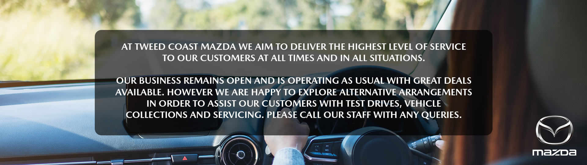 It's business as usual at Tweed Coast Mazda