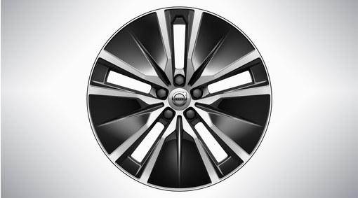 """19"""" 5-Double Spoke Black Diamond Cut Alloy Wheel - 1079"""