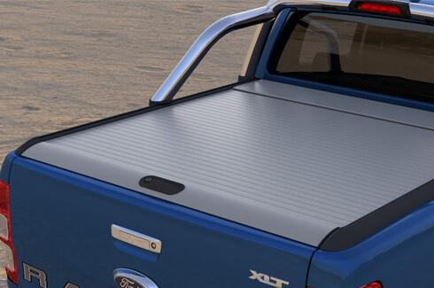 "<img src=""Tonneau Cover Roller Shutter Silver (Double Cab)"