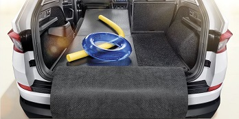 Fold-out double sided boot mat