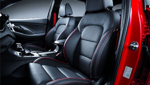 i30 Sports leather appointed interior.