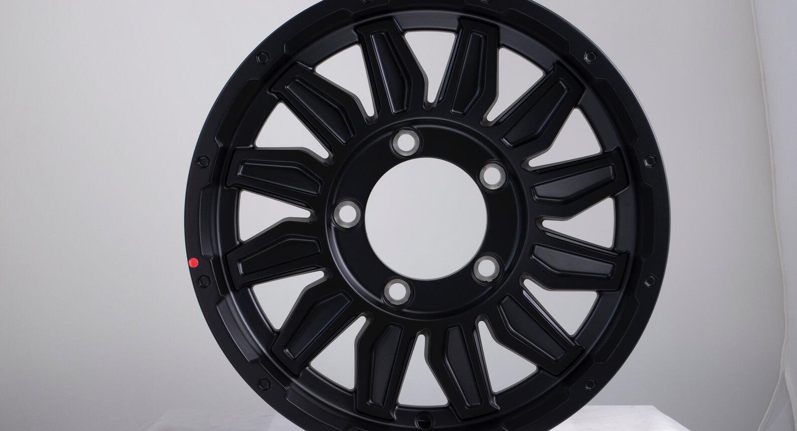 "Jimny - Alloy Wheel Kit Matte Black, Set of 4 (15"")"