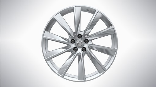"21"" 10-Spoke Turbine Polished Alloy Wheel - W002"