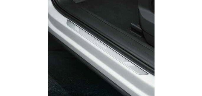 Door sill protection plates
